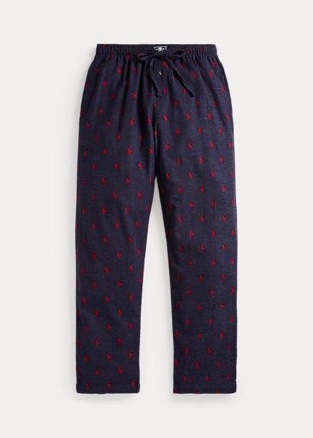 Polo RalphLauren Allover Pony Flannel Pajama Pant