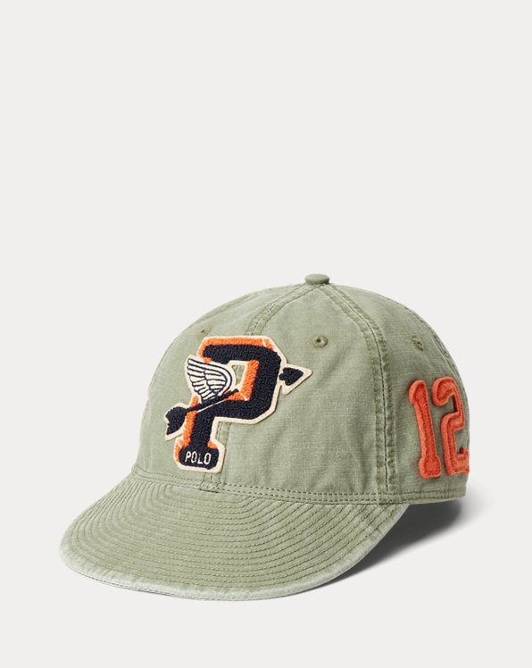 "Winged-Arrow ""P"" Patch Canvas Ball Cap"