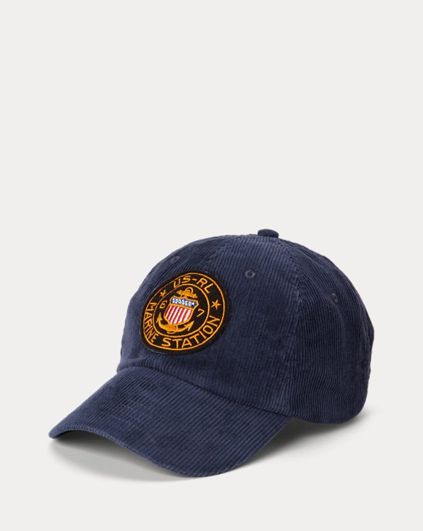 Nautical-Patch Corduroy Ball Cap