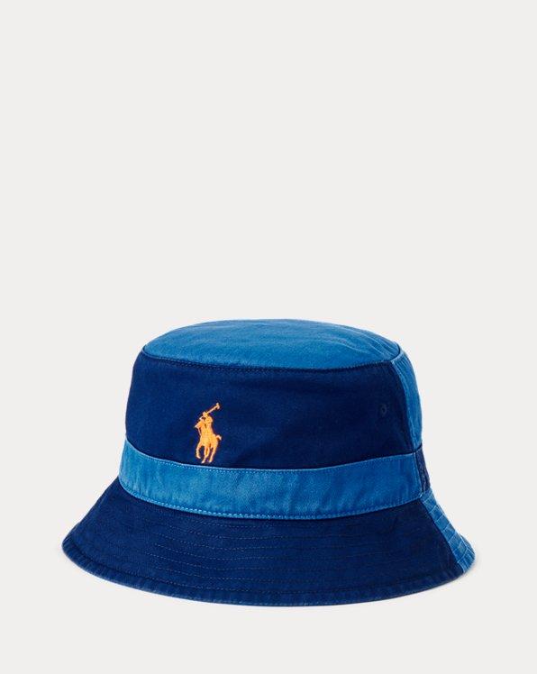 Color-Blocked Chino Bucket Hat