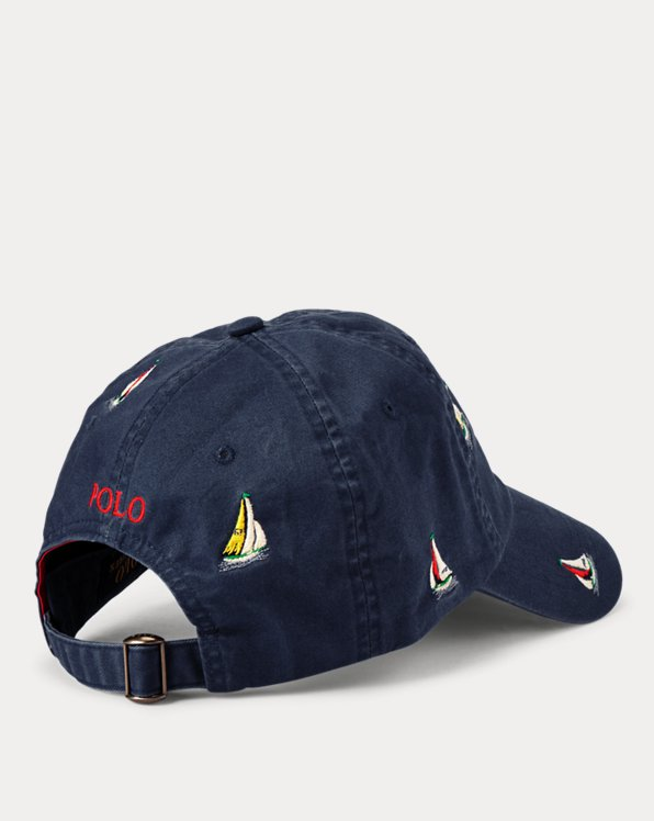 Embroidered Sailboat Ball Cap
