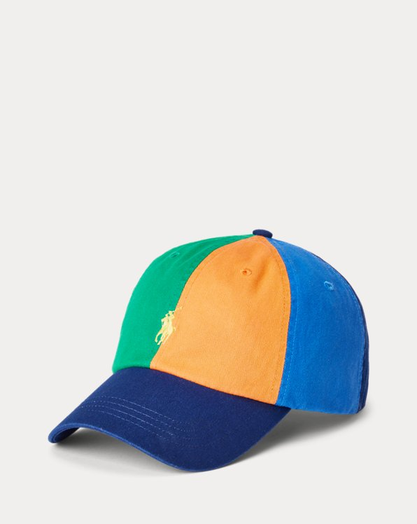 Gorra con visera de tela de chino