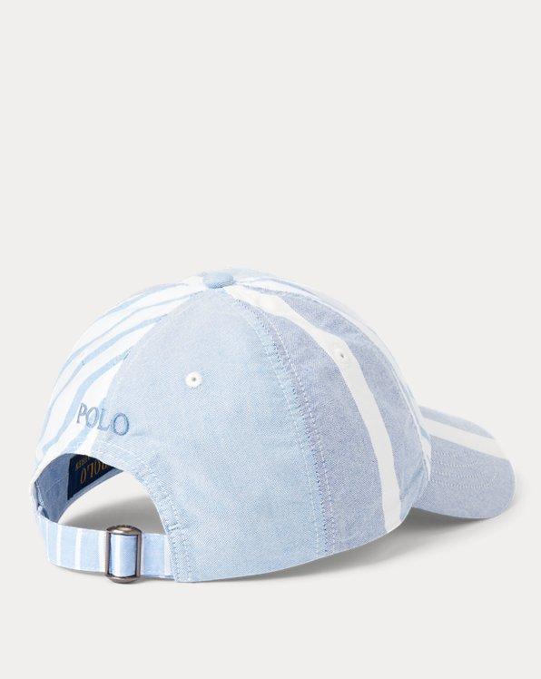 Paneled Striped Oxford Ball Cap