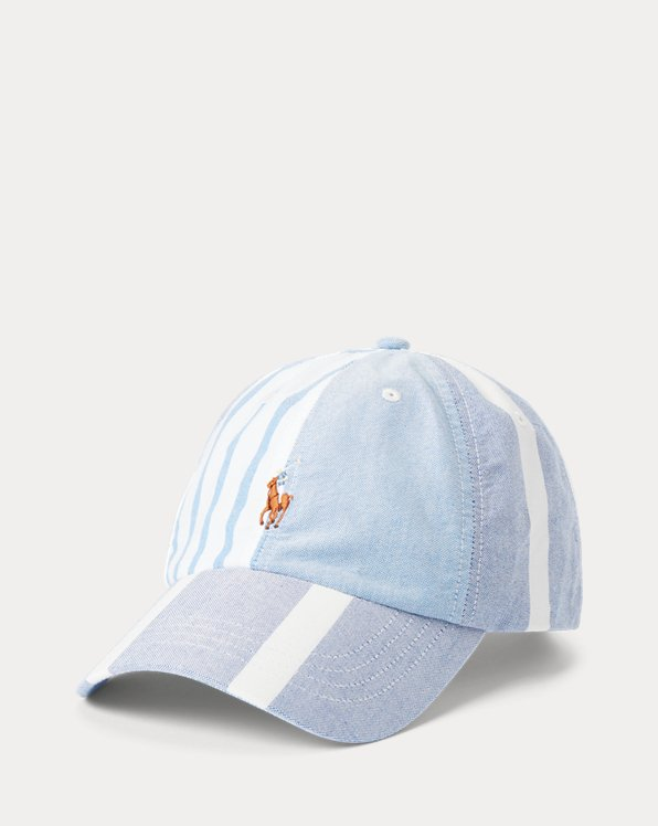 Paneled Striped Oxford Ball Cap