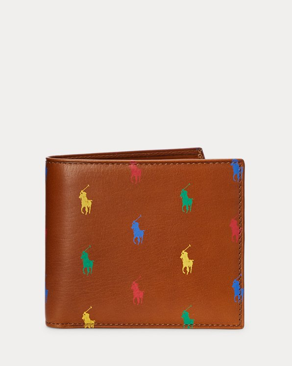 Polo Ralph Lauren Allover Pony Leather Billfold Wallet