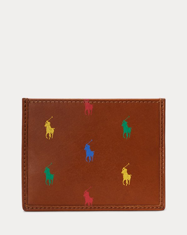 Polo Ralph Lauren Allover Pony Leather Card Case