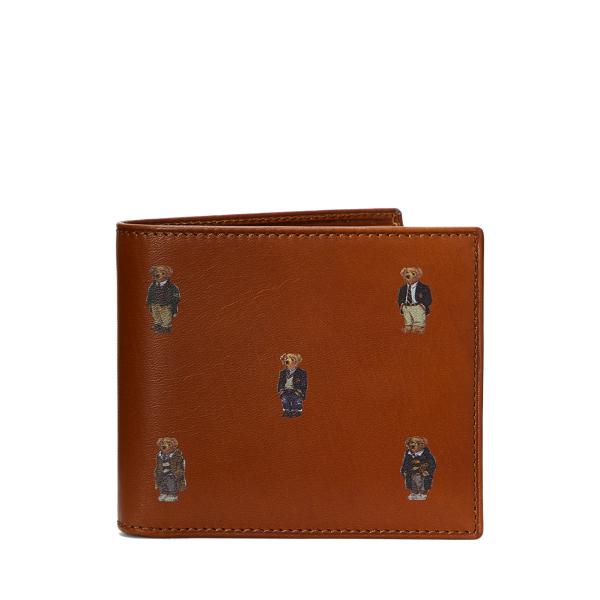 Polo Ralph Lauren Polo Bear Leather Billfold Wallet