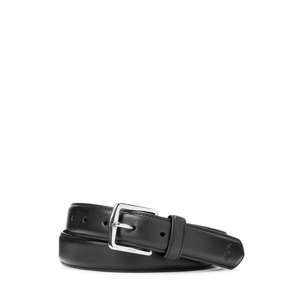 폴로 랄프로렌 Polo Ralph Lauren Full Grain Leather Dress Belt,Black