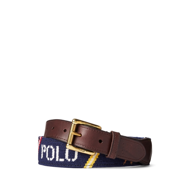 폴로 랄프로렌 Polo Ralph Lauren Nautical Needlepoint Belt,Navy Multi