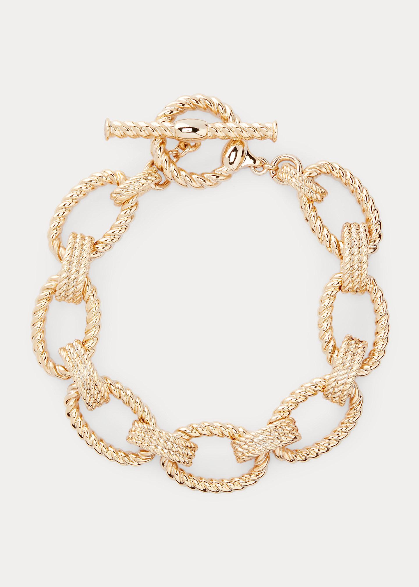 PoloRalphLauren Gold-Tone Rope Flex Bracelet