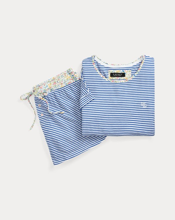Striped Boxer Pajama Set