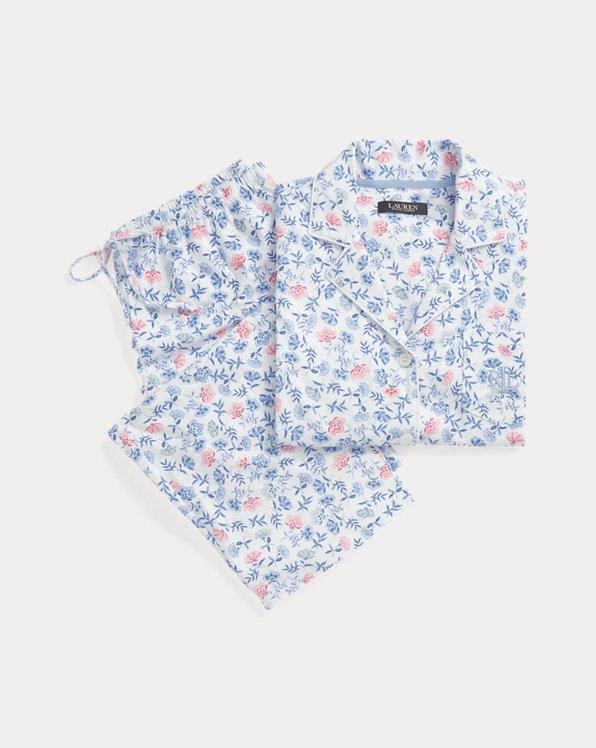 Floral Cotton Capri Sleep Set