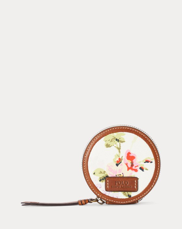Canvas Floral Coin Pouch