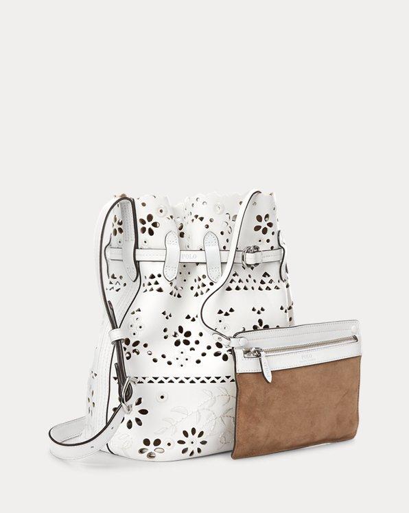 Eyelet Bellport Bucket Bag
