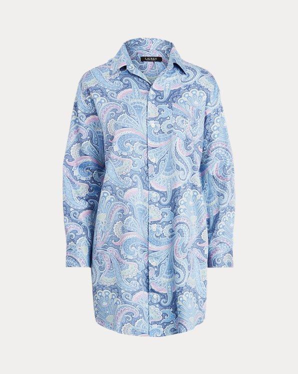 Print Sateen-Cotton Sleep Shirt