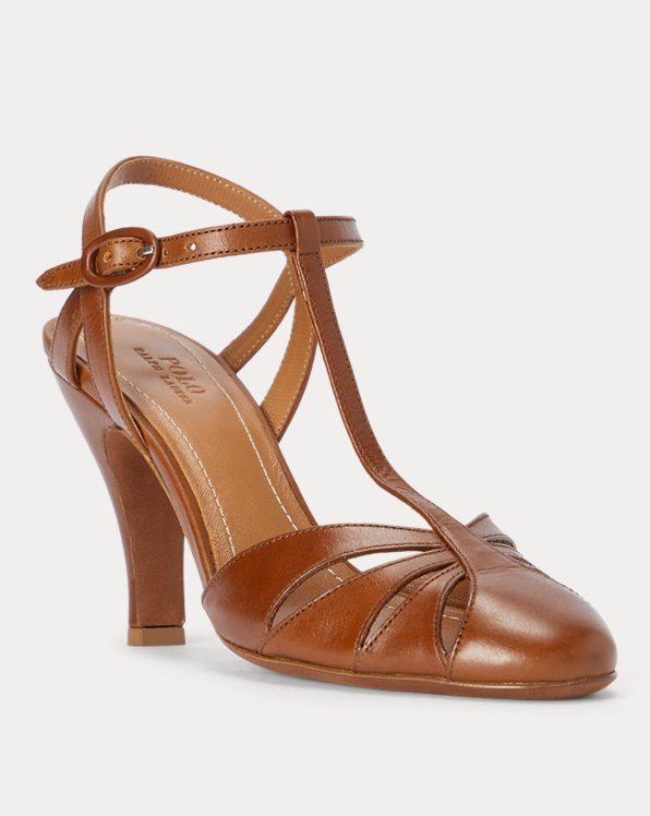 Vachetta Leather Closed-Toe Sandal