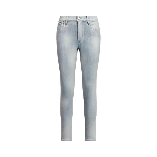 Lauren Petite High Rise Skinny Ankle Jean,Faint Pearl Blue Wash