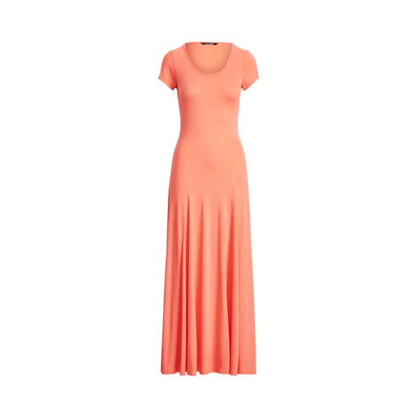 Lauren Cotton Blend Maxidress,Coral Quartz