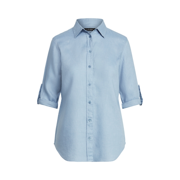 Lauren Linen Shirt,Dust Blue