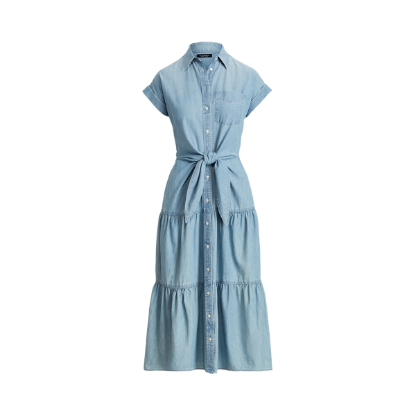 Lauren Belted Chambray Shirtdress,Lepore Wash