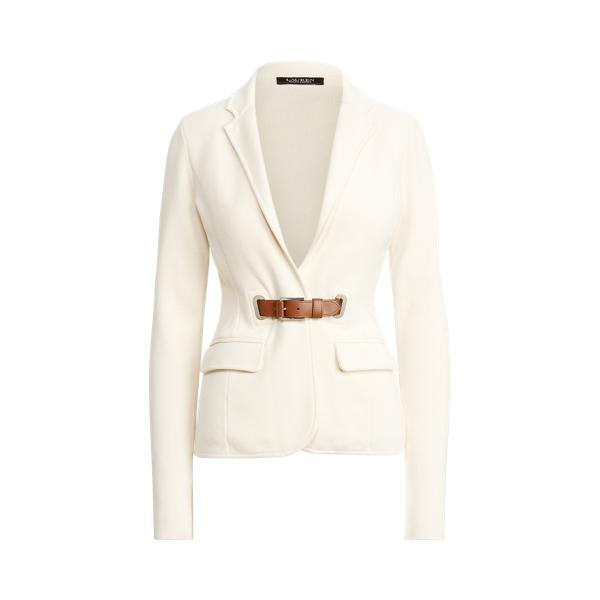 Lauren Combed Cotton Blazer,Cream/ Cuoio
