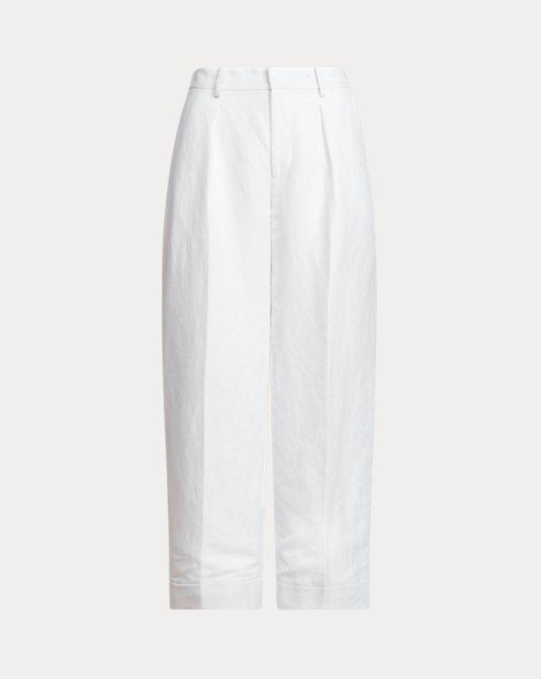 Linen Twill Wide-Leg Pant