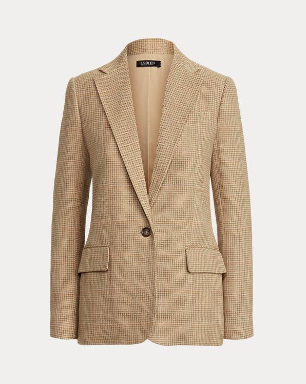 Blazer en tweed de coton et lin
