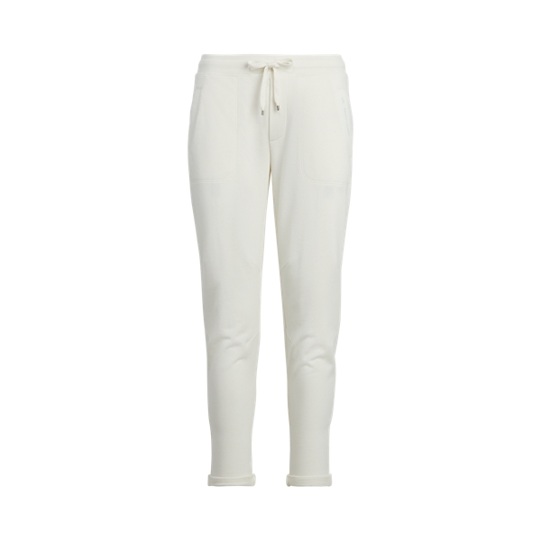 Lauren French Terry Jogger Pant,Pale Cream