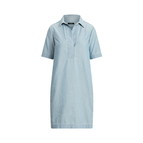 Lauren Chambray Shift Dress,Lepore Wash