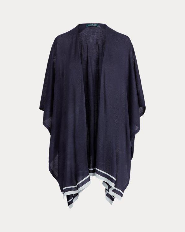 Striped Knit Ruana