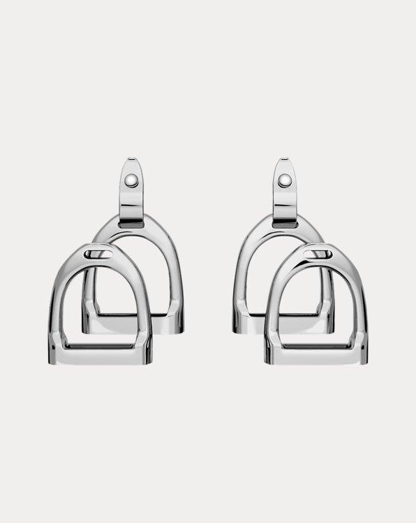 Sterlingsilber-Ohrringe mit Steigbügeln