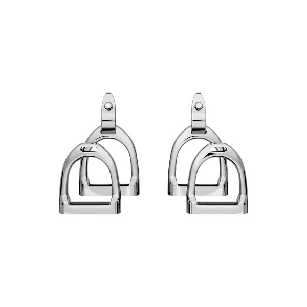 Sterling Silver Double-Stirrup Earrings