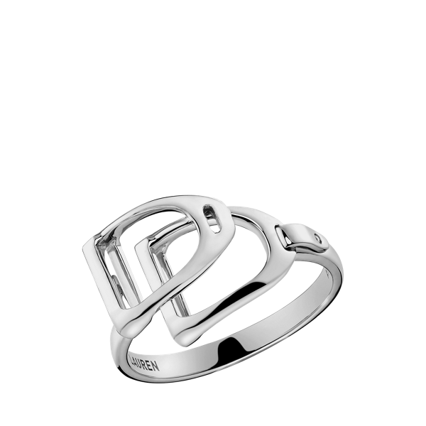 Sterling Silver Double-Stirrup Ring