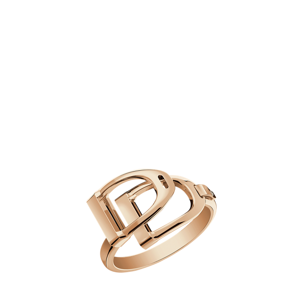 Rose Gold Double-Stirrup Ring