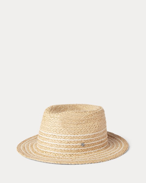 Striped Raffia Fedora