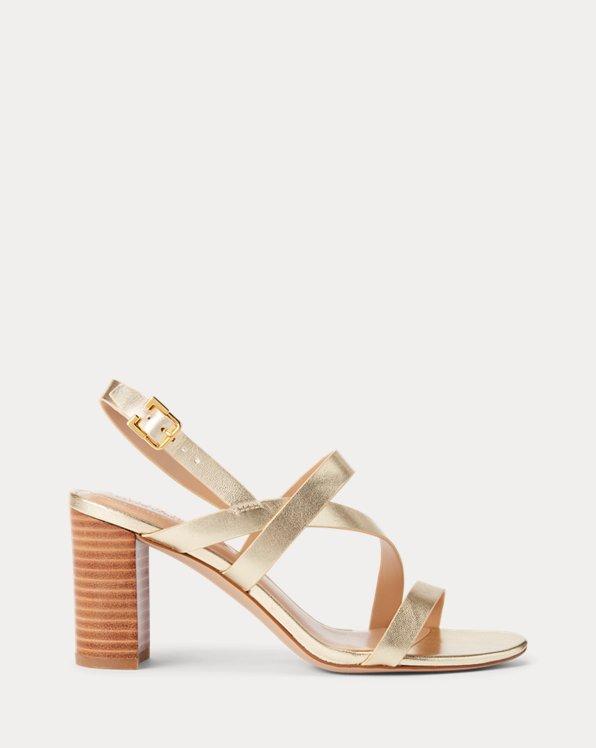 Mackensie Metallic Leather Sandal