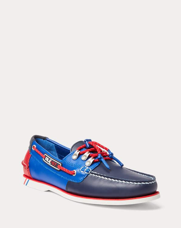 Merton Color-Blocked Leather Boat Shoe