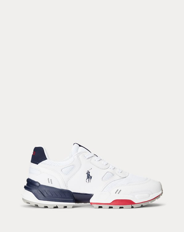 Sneaker Jogger in pelle e rete