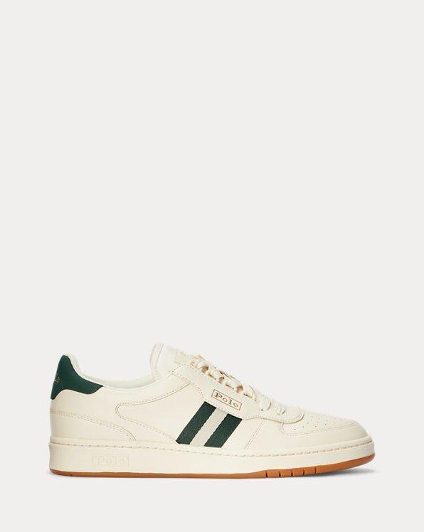 Sneaker Court in pelle