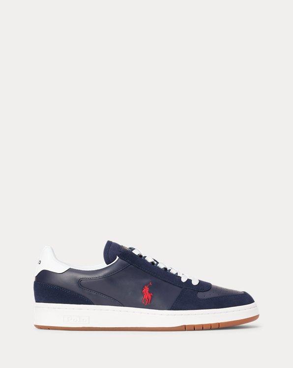 Sneaker Court in pelle e camoscio