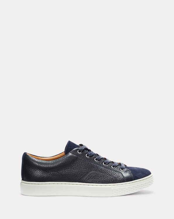 Dunovin Leather & Suede Trainer