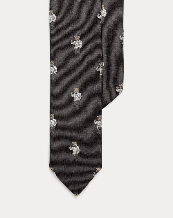 Polo Bear Silk Narrow Tie