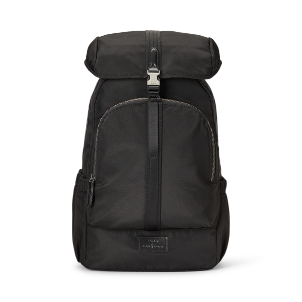 Leather-Trim Backpack