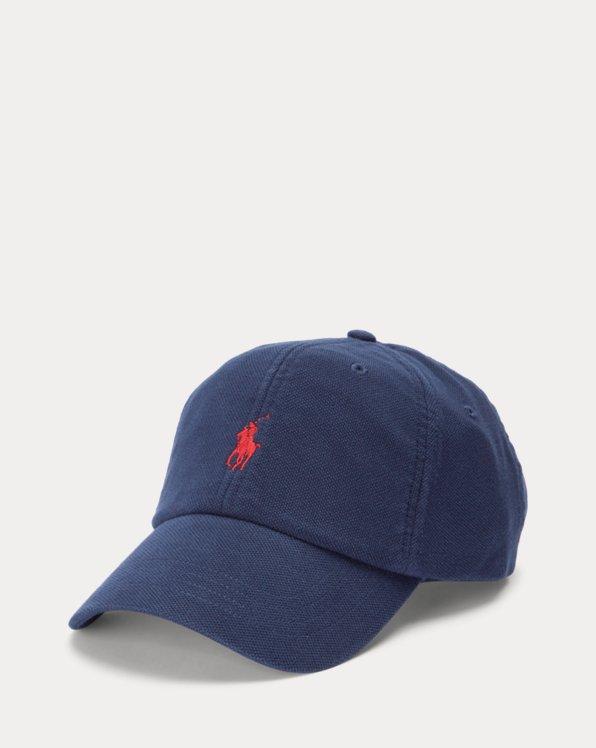 Gorra de piqué de algodón con visera