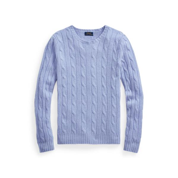 폴로 랄프로렌 Polo Ralph Lauren Cable Knit Cashmere Sweater,Dress Shirt Blue
