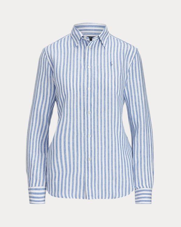 Relaxed Fit Striped Linen Shirt