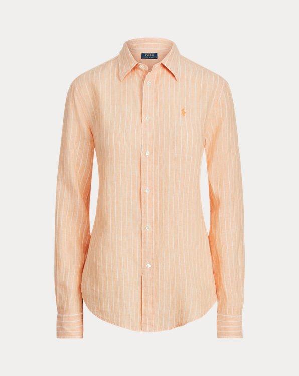 Chemise décontractée rayée en lin