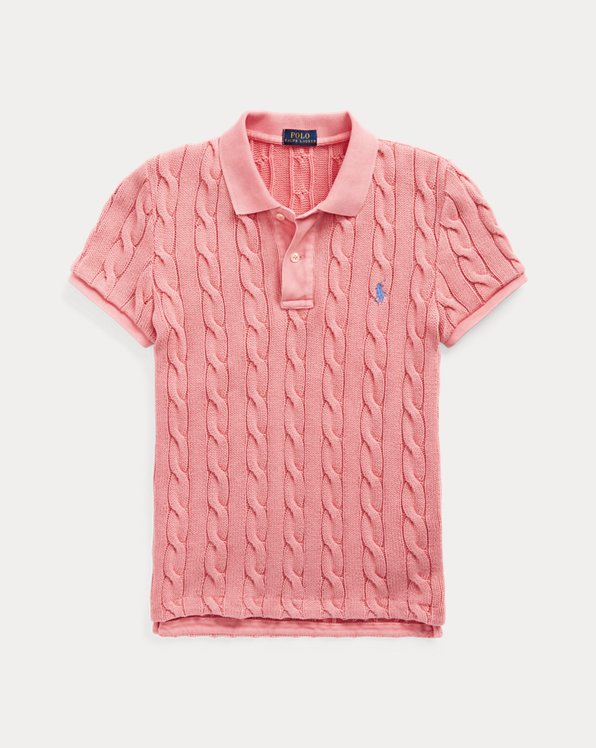 Cable-Knit Polo Shirt