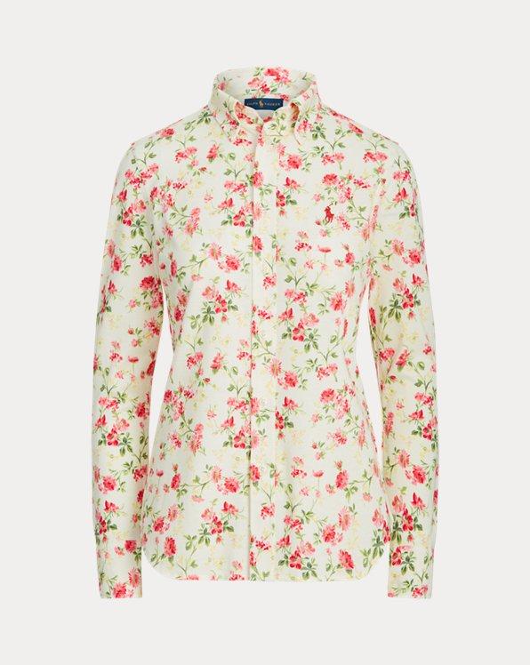 Camisa de algodón con flores