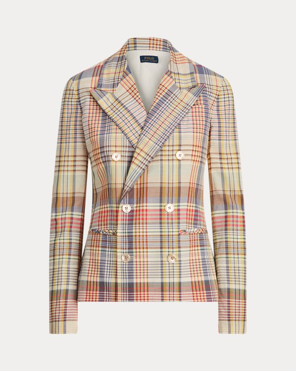 Madras Cotton Blazer